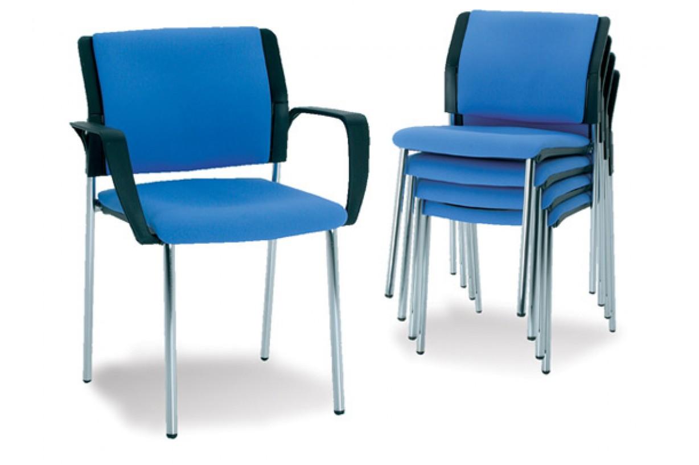 İç İçe Geçmeli Metal Ayaklı Konferans Sandalyesi